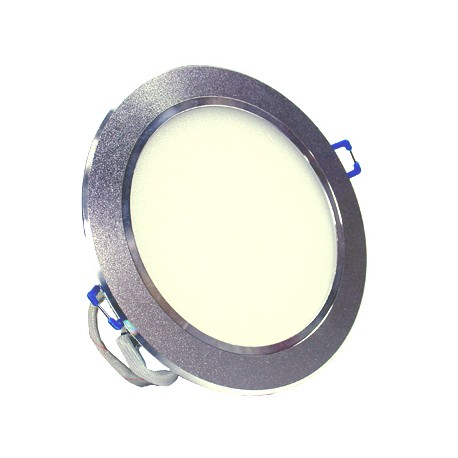 9W LED Energy Saving Ceiling Recessed light Silver Crown - Warm White