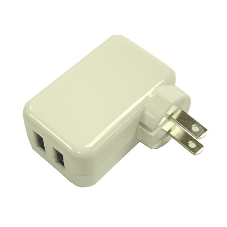 10W Dual USB AC Power Adapter For iPad iPhone iTouch Galaxy & any USB device.