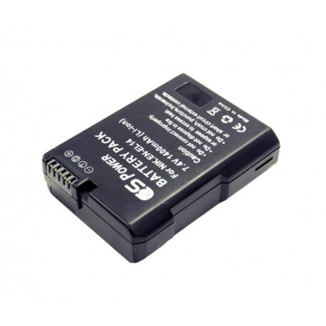 CS POWER EN-EL14 Extended Power Li-ion Battery For Nikon Camera 1400 mAh