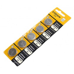 CR2032 Lithium Coin Battery For Watches, Car Keyless Remote & Electronic Devices 5 Pack