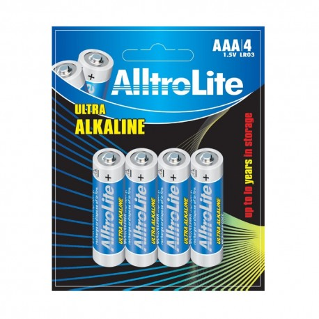 AlltroLite Ultra Power Alkaline 1.5V LR03 AAA Battery Pack of 4
