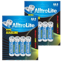 AA Battery Pack of 8 AlltroLite Ultra Power Alkaline 1.5V LR6