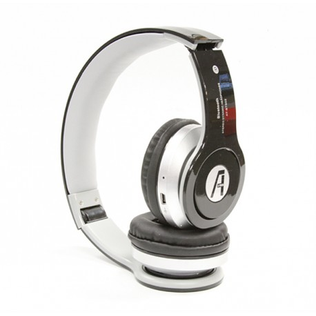 A1-Tech Wireless Bluetooth Stereo Headset with Mic and FM Radio - Black.