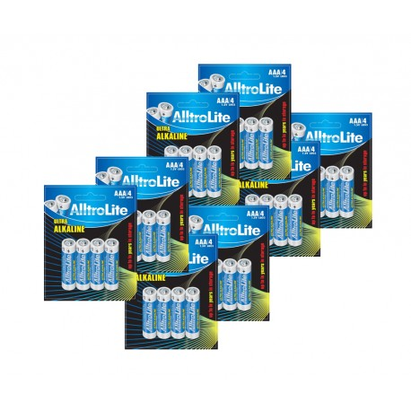 AlltroLite Ultra Power Alkaline 1.5V LR03 AAA Battery Pack of 32