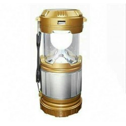 Camping Lamp LED 12v Solar Zoom Portable Multifunction Flashlight Gold SX9599