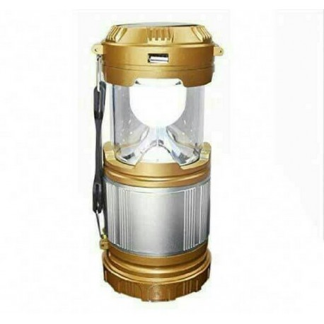 Multifunction LED 12v Solar Zoom Portable Flashlight & Camping Lamp SX9599 Gold