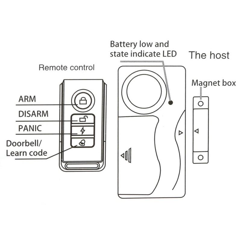 wireless door alarm  window security alarm  alarm with