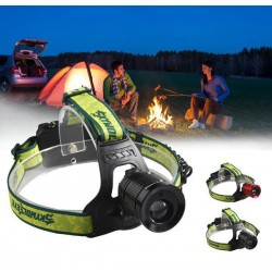 LED Headlamp with  Red Laser Spotlight Torch For Pro Camping Hunting