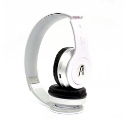 iPhone 6 7 8 X Bluetooth Stereo Headset with Mic and FM Radio by A1-Tech - White