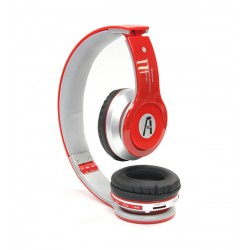 iPhone 6 7 8 X Bluetooth Stereo Headset with Mic and FM Radio by A1-Tech - Red